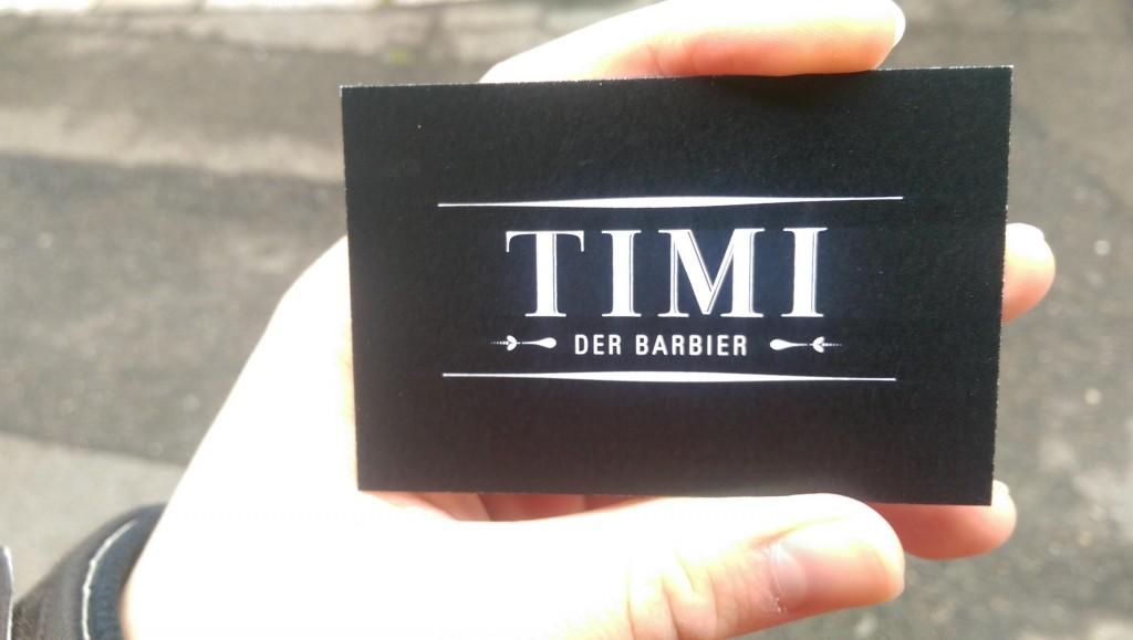 TIMI Der Barbier Visitenkarte vorne