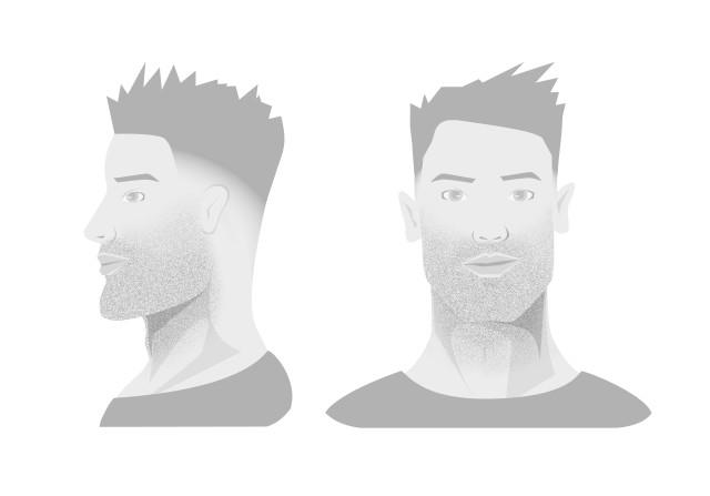 Tage frisuren drei bart Bart und