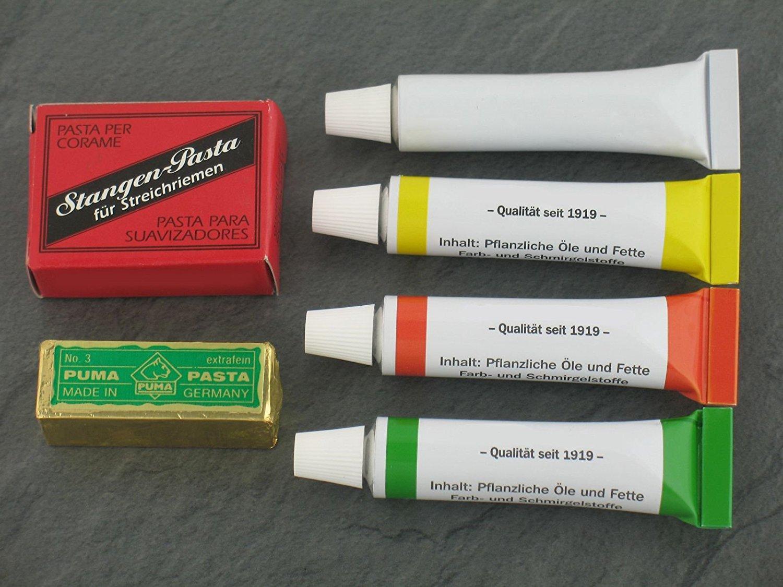 Schleipaste - Alle Farben in der Übersicht